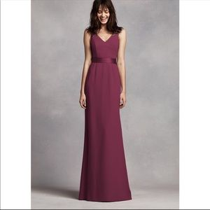 Vera Wang Wine bridesmaid dress